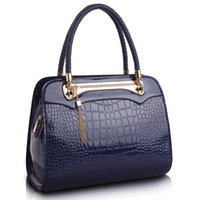 Wholesale Crocodile Fabric - The new female crocodile Bag Fashion Lady Diana bag temperament Messenger Shoulder Handbag