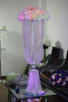 Wholesale Table Crystal Chandelier Wholesale - K5 crystal wedding centerpiece,wedding table top chandeliers,flower stand ,without flower,home decoration,wedding cake stand