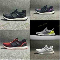 Wholesale Black Mesh Stockings - check stock before order 2017 new ultra boost 2.0 running shoes triple white black ultra boost white primeknit hypebeast sport running shoes