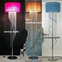 Wholesale Crystal Lamp Dining Table - New Modern luxurious Crystal table lamp LED Floor lamp Living room Floor Light