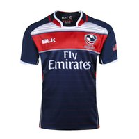 Wholesale usa rugby jerseys - Free shipping!NRL National Rugby League USA United States Rugby jersey navy blue mens shirts S-3XL