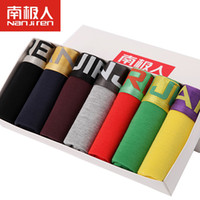 Wholesale U S Yellow - Wholesale-7Pcs lot Brand New Sexy Super Large Size Mens Underwear U Convex boxer short soft Luxury Breathable Belt Shorts L~6XL Gift Box