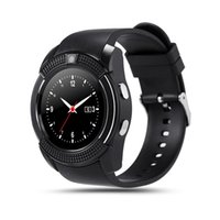 Wholesale used samsung note resale online - V8 Smartwatch Bluetooth Watch With M Camera SIM TF Card Watch For Samsung Note Cellphone iPhone With Retail Package
