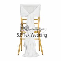 ingrosso la sedia copre i prezzi delle aste-Prezzo conveniente Chiffon Chiavari Chair Cover \ Wickle Chair Hood Sash per la decorazione di eventi e matrimoni