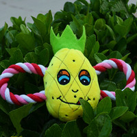 cheap chews yellow ananas puppy dog chew best mix color chirstmas top quality plush sound for
