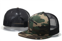 Wholesale summer style adjustable Blank mesh camo baseball caps snapback hats for men women fashion sports hip hop bone