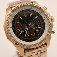 Wholesale Skeleton Dress Sale - Top sale luxury brand men's dress wristwatch quartz movement black dial gold skeleton stainless steel gold band Business Casual Mens Watches