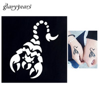 Wholesale Sexy Small Tattoos - Wholesale- 1 PC Small Henna Tattoo Stencil Waterproof Temporary Scorpion Tattoo Design Template for Women Men Leg Body Art Sexy Product G04