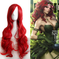 Cosplay perruque de cheveux synthétiques PERSONA3 Rouge Long Body Wave Mix Ombre couleur Mode Middle Side Bang perruque synthétique