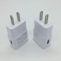 smartphone-dock großhandel-500 TEILE / LOS USB Ladegerät 5 V 2A AC Reise Ladegerät Adapter US Eu-stecker für universal smartphone android telefon