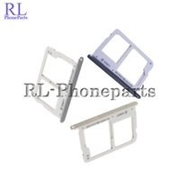 Wholesale Micro Sim Slot Replacement - 10pcs lot New SIM Card Holder for Samsung Galaxy A3 A5 A7 A310 A510 A710 2016 Dual SIM Micro SD Card Tray Slot Replacement