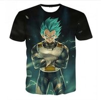 Wholesale Action T Shirt - Newest Fashion Womens mens Dragon Ball Z Action Figures Funny 3D Print Casual T-Shirts XTX05