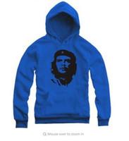 Wholesale Che Free - Che Guevara Hoodies Fleece Mens Print Hooded Sweatshirt Male Pullovers 2016 New Fashion Ernesto Guevara Printed Free Shipping