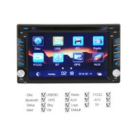 Wholesale Universal Two Din Gps - 6.2'' Double Two Din Car DVD Player For Universal With Bluetooth GPS Navigation Rearview Backup