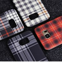 Wholesale Plaid Iphone Case - Newly Luxury Brand Plaid Pattern Phone Case for Samsung Galaxy S8 Case Soft Plastic Protective Shell Back Cover for Samsung Galaxy S8