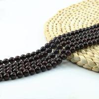 Wholesale White Purple Jade - Rich Red Garnet Gem Round Beads Semi-Precious Gemstone 4 6 8 10mm Strand 15 inch per Set L0058#