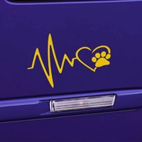 Wholesale Dog Door For Window - Heart Beat Paw Dog Cat Pet Lover Animal Art Car Sticker for Truck SUV Bumper Motorcycles Laptop Car Covers Vinyl Decal