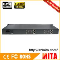 Wholesale DHL U Chassis Channels HDMI Encoder IPTV H H Hardware Encoder For Live Streaming