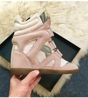 Wholesale Low Wedge Shoes Ivory - Free shipping 2017 classic fashion women genuine leather shoes increased within the low high style leisure brand boots