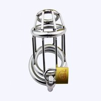 Wholesale Trumpet Chastity Cage - High Quality Trumpet Stainless Steel Chastity Device Adult Novelty Cock Cage Penis Lock Sex products A158