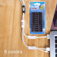 Wholesale Earphone Winder Cable Tidy - self-adhesive buckle clamp Cable Drop Clip Desk Tidy Organiser Wire Cord digital protector Cord earphone winder Wire Storage thread tools