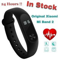 Wholesale Original Xiaomi Mi Band Miband2 Wristband Bracelet with Smart Heart Rate Monitor Touchpad OLED Screen Color Black Free By DHL