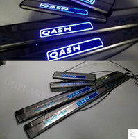 Wholesale Door Sill Scuff Plate Nissan - Car Styling for Nissan Qashqai accessories 2014-2016 led auto door sill illuminated door sills scuff plate thresholds