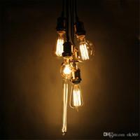 éclairage antique industriel achat en gros de-40W 60W ampoules à incandescence filament rétro vintage style industriel lampe edison