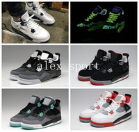 Wholesale Iv Training - High Quality Mens Retro 4 Basketball Shoes Sneakers Cheap Retro IV Sporting Training Shoes Trainers Sneakers Size 36-40