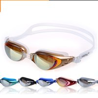 Wholesale Swims Coat - Unisex Adult Coating Mirrored Sport Swimming Glasses Water Sportswear Anti Fog Anti UV Waterproof Swimming Goggles Glasses
