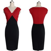 Wholesale Sexy Dress Fight - Good A++ The new hot women 's dress V - neck sleeveless fight after the split sexy dress NLX013