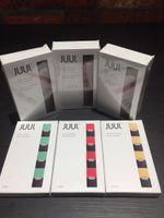 Wholesale E Cig Flavours - Newest version e cig Juul Kits Newest CBD Vaporizer Starter Kits With 4 Pods 4 Different Flavours Black Smart Vape Kits