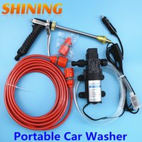 Wholesale 12v high pressure washer - Wholesale-12V 60W High Pressure Intellighent High Pressure Car Wash 12V Powered Car Wash Portable Steam Car washer Lavador de coches