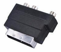 rgb rca adapter großhandel-HOT Elektronik Video RGB Scart zu Composite 3 RCA S-Video AV TV Audio Adapter Konverter Scart zu RCA