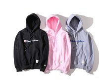 Wholesale Qiu dong season popular logo hoodie leisure logo embroidery sweethearts outfit Japanese cotton fleece add hair thickening hooded fleece