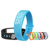Wholesale Silent Alarm - Wholesale-Smart Waterproof Sport Wristband Watch with Fitness Silent Alarm Blood Pressure Fitness Tracker Passometer