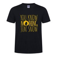 Wholesale Snow White Shirts - YOU KNOW NO THING JON SNOW T Shirt for men casual o neck short sleeve men t shirt