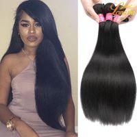 büyük fırsatlar toptan satış-En iyi Braazilian Bakire Düz Saç 100% Işlenmemiş Rosa Saç Ürünleri brezilyalı Bakire Big Deals Düz İnsan Saç Doğal Renk # 1B