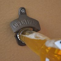 Wholesale Unique Tools Gifts - Wall Hanging Bottle Opener Metal Retro Wall Mounted Beer Opener Tool Unique Creative Gift b924