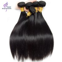 Modern Show Hair Brazilian Straight Cabelo Humano Bundles Natural Black Color 1B Pode ser Dyed One Bundle Brazilian Virgin Hair Weave Extensions