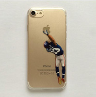 Wholesale Cam Cover - Cartoon Clear Case for iphone 7 7plus 6 6s 6plus 5 5s American Football Odell beckham jr Gronk Cam Newton printed Phone Cover