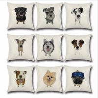 Wholesale Covered Dog - Wholesale Cute Dog Horse Elephant Cushion Covers Cotton& Linen Pillow Cases Cushion Chair Pillow Case for Home Accessories 45*45cm