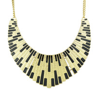 Wholesale Necklace Collar Fashion Design - New Hot Popular Individual Design Black Enamel Elegant Gold Color Chain Alloy Collar Necklace For Women Fashion Bijoux