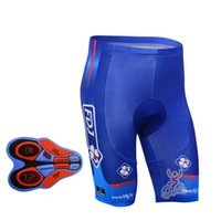 Wholesale Team Fdj - Summer mens FDJ Team Cycling (bib) shorts pant ropa ciclismo Quick-Dry Breathable 9D Gel Padded Riding Bicycle Sports belt shorts A291