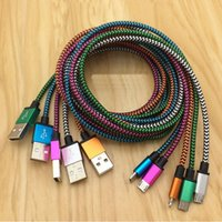 Wholesale Colorful Micro Usb - 100cm Colorful Snake Pattern Nylon Braided Micro USB Data Sync Cable Charger For Samsung Xiaomi Lenovo Huawei HTC LG