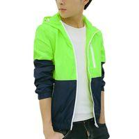 Wholesale Mens Jackets Wholesalers - Wholesale- Fashion Jacket Windbreaker Mens Casual Spring Jacket And Coat Autumn Outwear