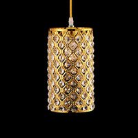 Wholesale modern single LED gold crystal chandeliers lights modern W crystal lamps aisle high power lights
