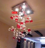 rote blasenlampen großhandel-Indoor Pendelleuchte Red Bubble Pendelleuchte Glasleuchter Wohnzimmerleuchte Esszimmerlampe Arbeitszimmer Schlafzimmerlampe Lichtkuppel Beleuchtung