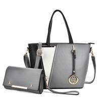 Wholesale Extra Large Women Fashion - 2017 Fashion Woman Handbag Composite Bag Brand Designer Casual Tote PU Leather Zipper Crossbody Shoulder Bags SY5017