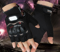 Wholesale Motorcycle fabric glovesbreathable gloves Super protective half finger